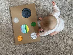 cardboard sensory board